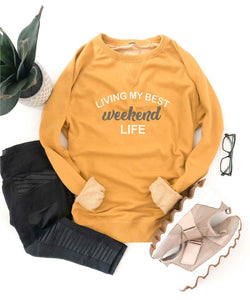 Weekend life french terry raglan Inspirational French Terry raglan Cotton heritage and lane seven French Terry raglan XS Mustard