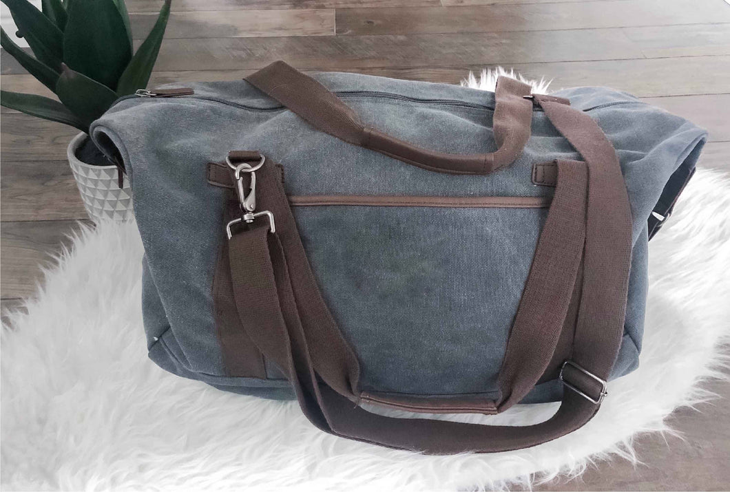 Weekender canvas bag Weekender bag Port Authority cotton Canvas duffel bag