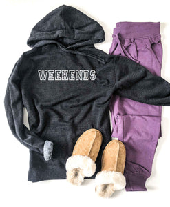 Weekends french terry hoodie Miscellaneous French Terry raglan Lane seven french terry hoodie mauve XS Charcoal