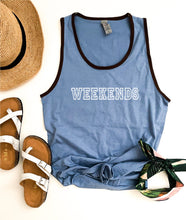 Weekends unisex ringer tank Summer tank Cotton heritage m1792