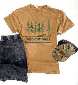 Who cut one vintage wash tee Short sleeve patriotic tee Lane Seven vintage tee
