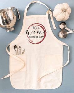 Wine kind of day apron Fall apron Apron