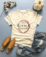 Wine kind of day tee Short sleeve fall tee Bella Canvas 3001 heather mauve XS Oatmeal