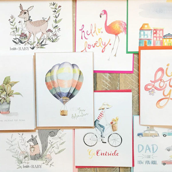 Hand Painted & Printed Greeting Cards
