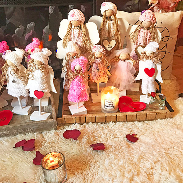 Valentine's Day Angel Figurines