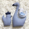 Baby Boy (Blue) Gift Basket w/Goose, Hen & Bird in Handmade Gift Baskets
