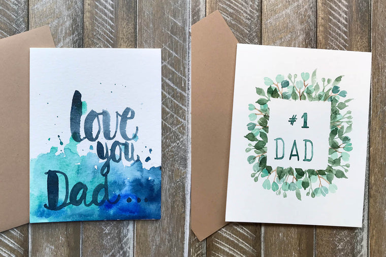 Hand Painted Greeting Cards for Dad in Greeting Cards