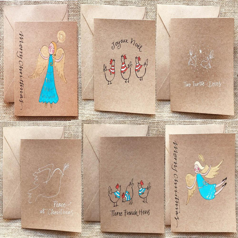 Hand Painted Greeting Cards for Holidays in Greeting Cards
