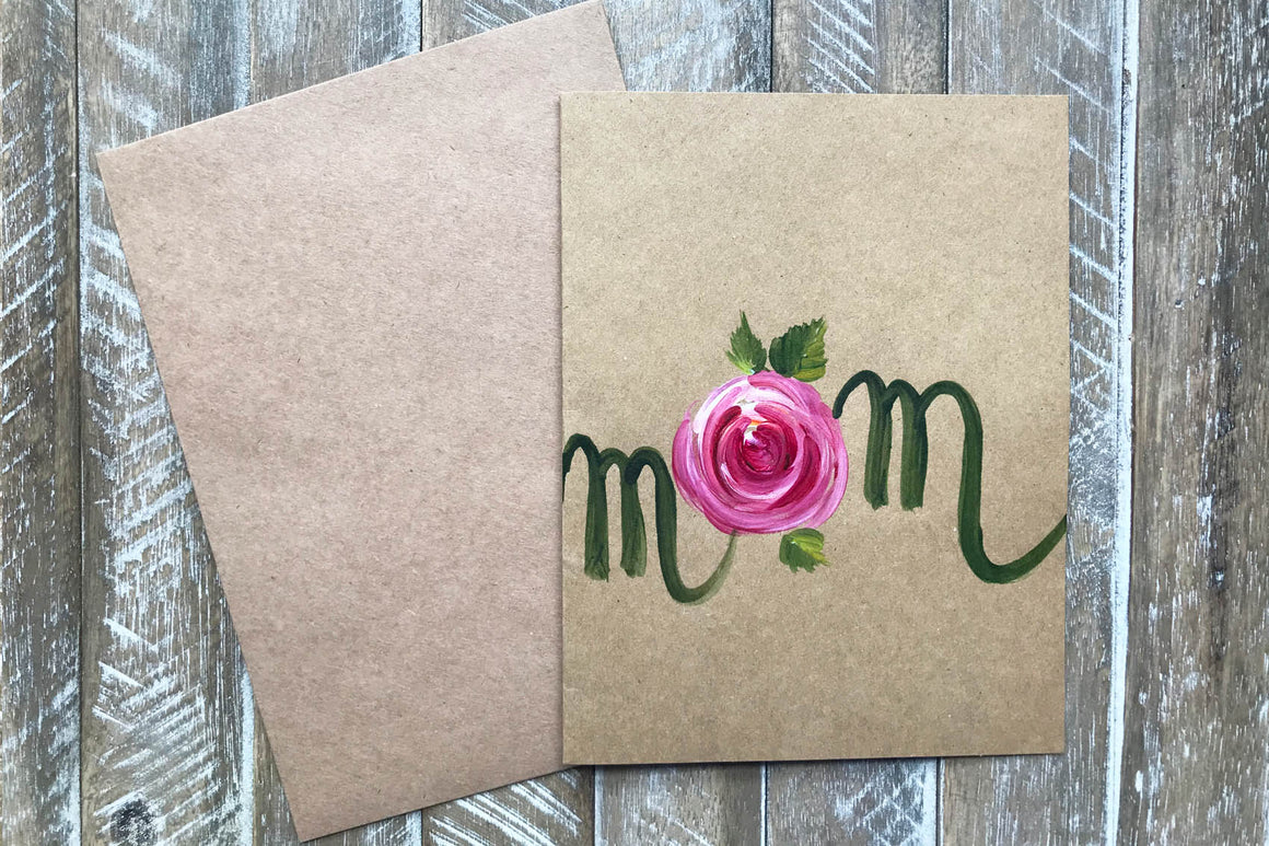 Hand Painted Greeting Cards for Mom in Greeting Cards