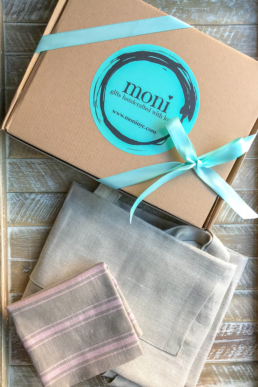 Natural Linen Apron and Complimentary Linen Napkin