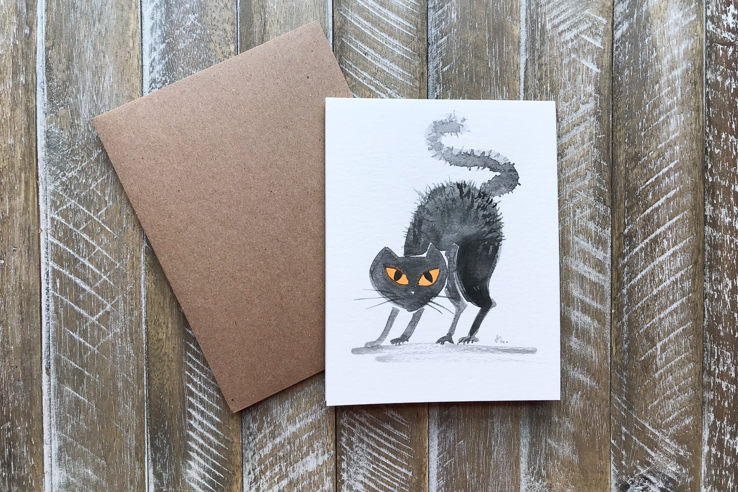 Hand Painted Greeting Cards For Halloween