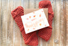 Knitted Fingerless Mittens Design 1 w/Thanksgiving Card