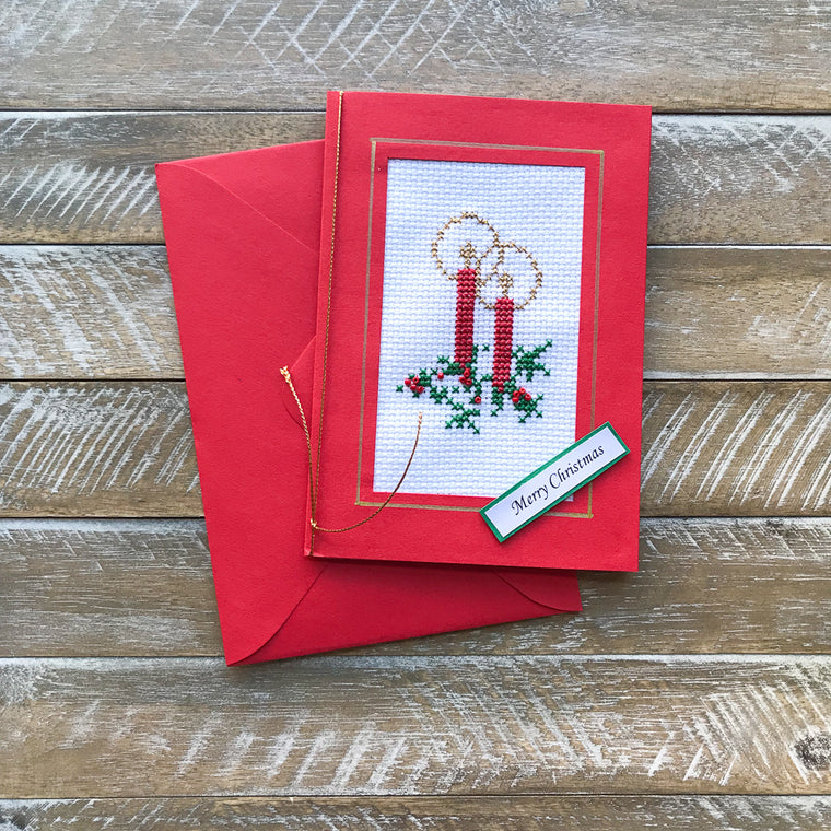Hand Embroided Christmas Card #1
