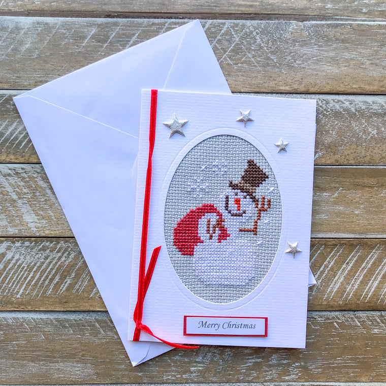 Hand Embroided Christmas Card #5