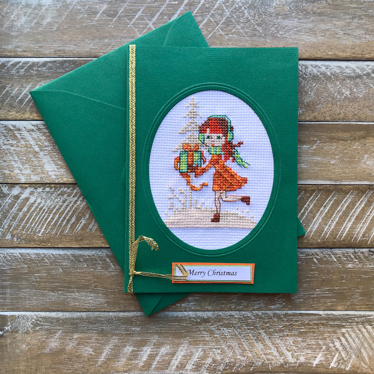 Hand Embroided Christmas Card #9