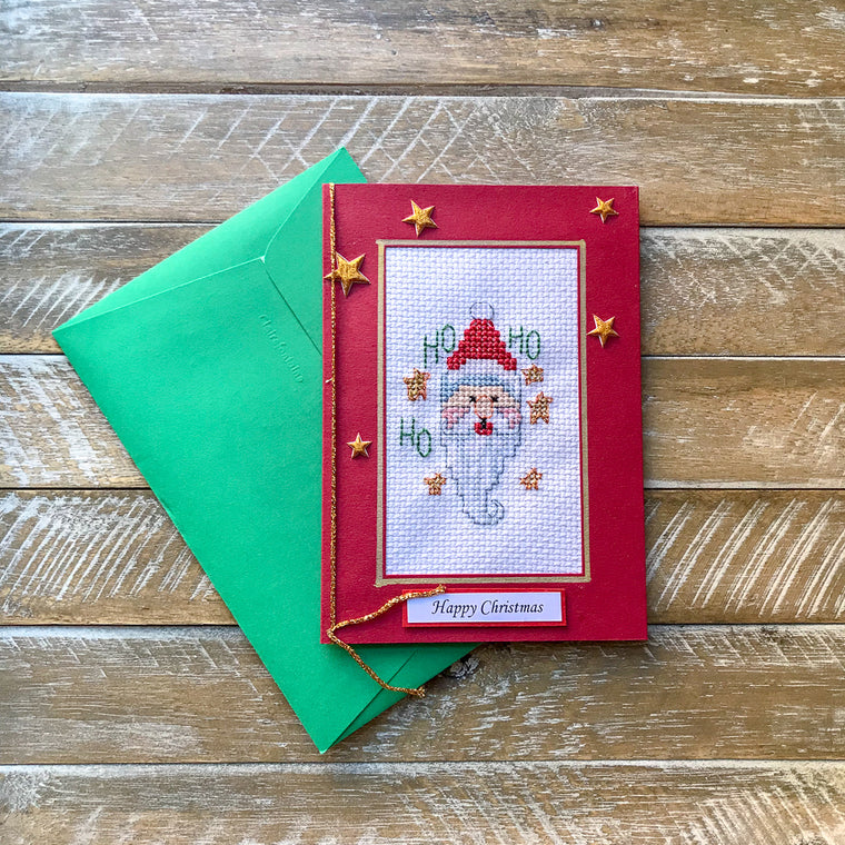 Hand Embroided Christmas Card #19