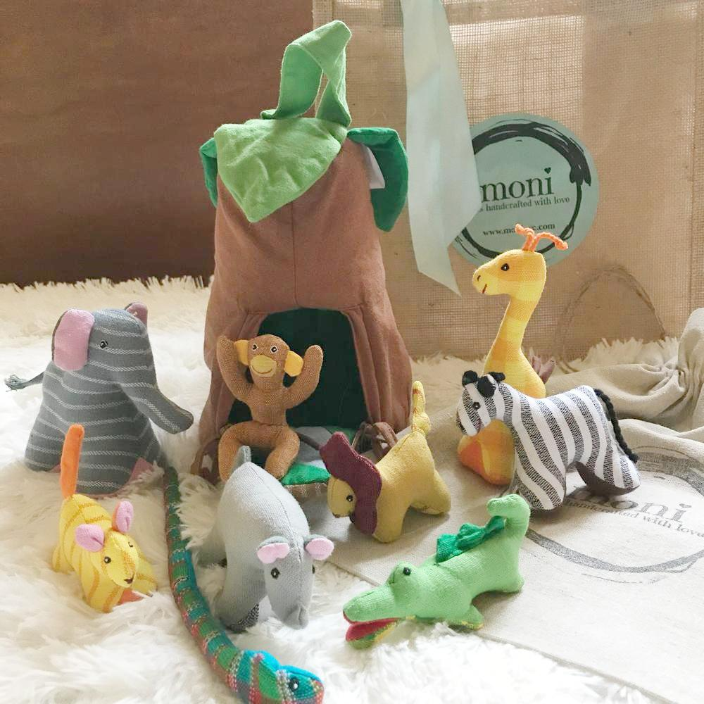 Children Gifts - Jungle Animals – Playhouse Set in decor for kids' room