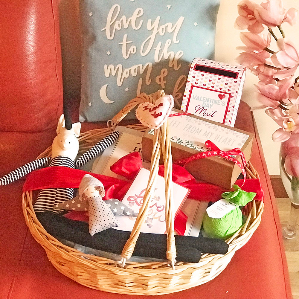 Valentine's Day Baby Boy Gift Basket w/Unicorn