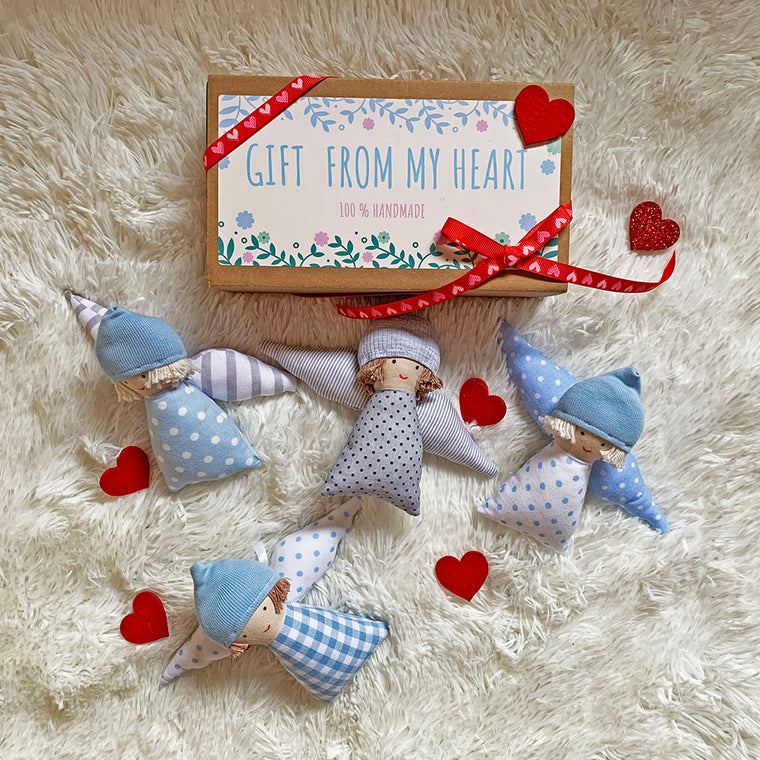 Valentine's Day Angel Tilda Boy Decor (Mini)