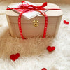 Valentine's Day Gift Set w/Wooden Memory Box & Mugs