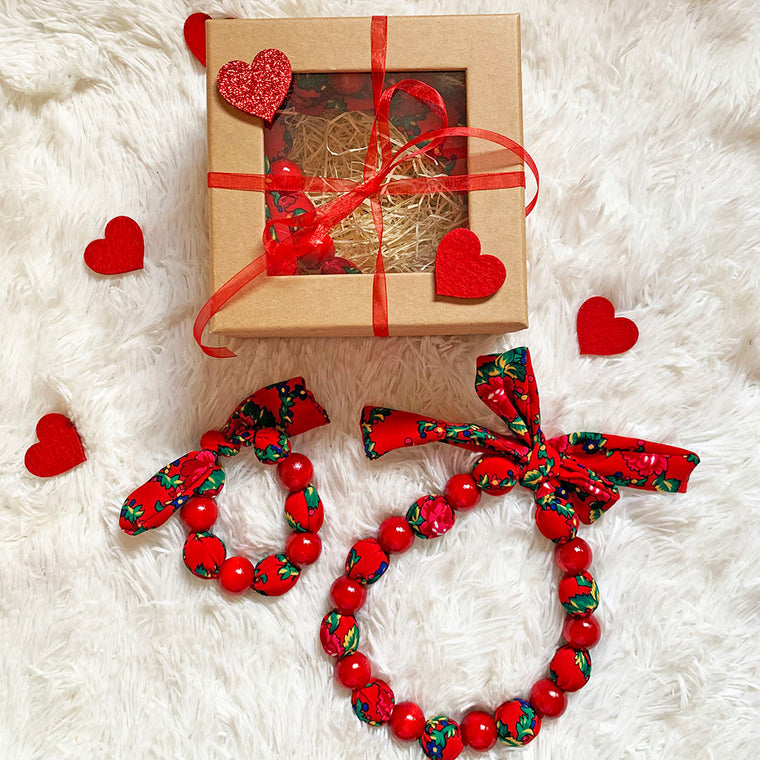 Valentine's Day Folk Set (Necklace & Bracelet)