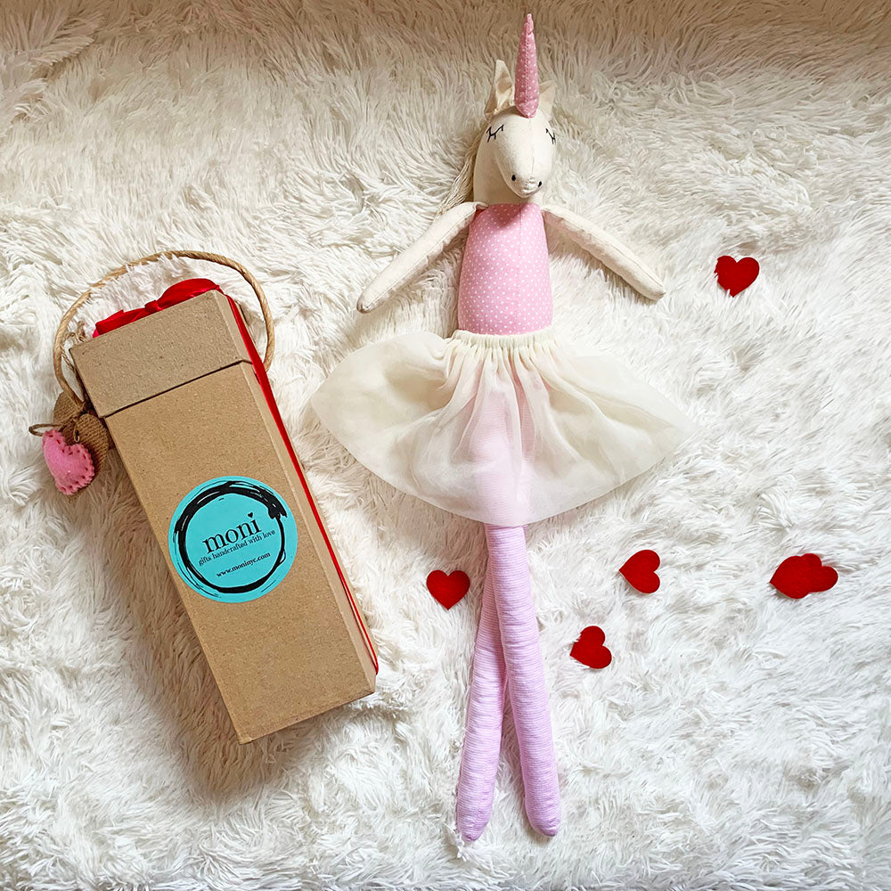 Valentine's Day Unicorn Pink Ballerina Decor