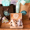 Wooden Memory Box w/Two Bunnies (Design 8) & Free Extra Bunny