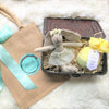 Sweet Girly Bunny & Bath Balm in a Basket in decor for kids' room