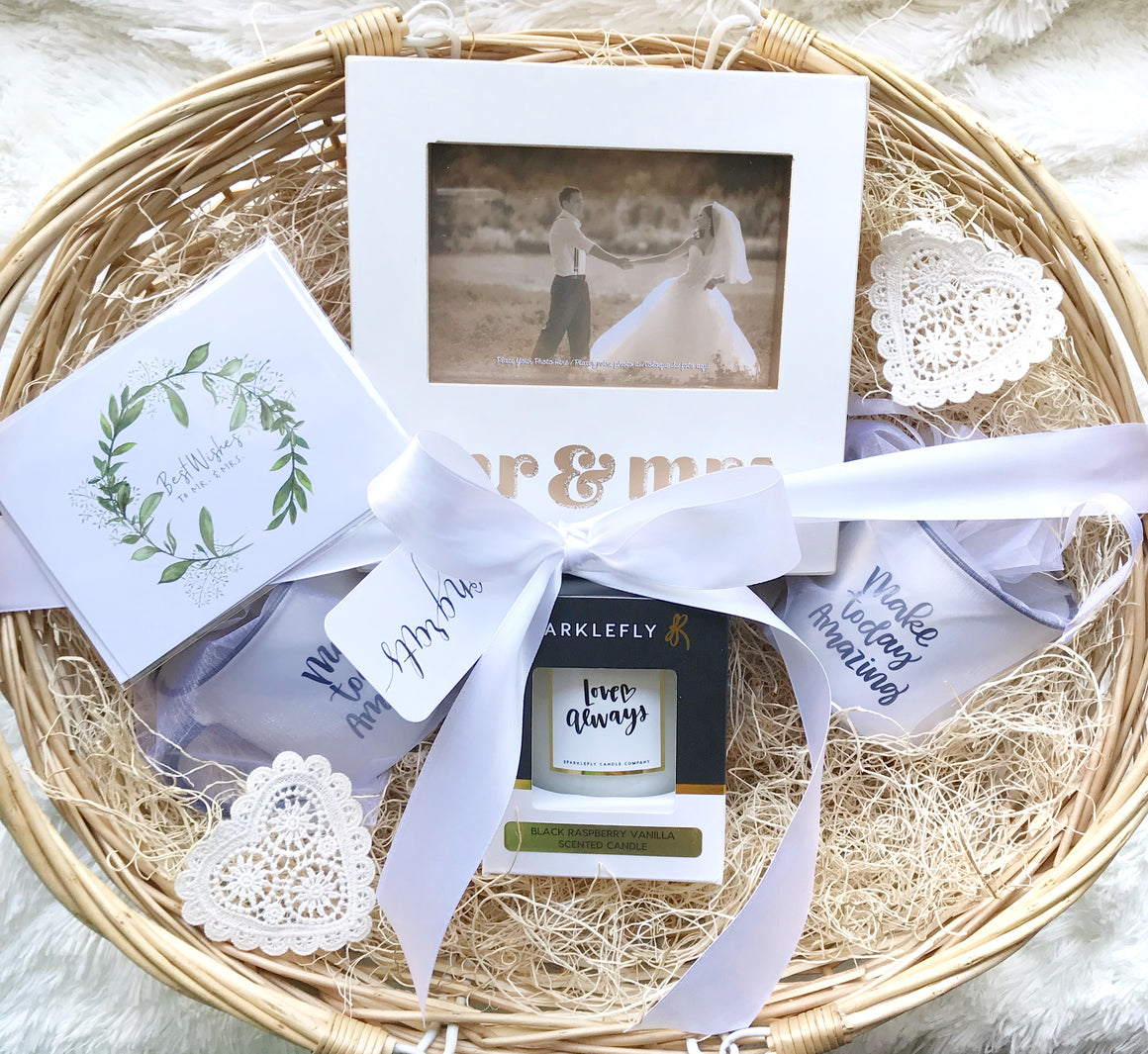 Happily Ever After Wedding Gift Basket in Handmade Gift Baskets