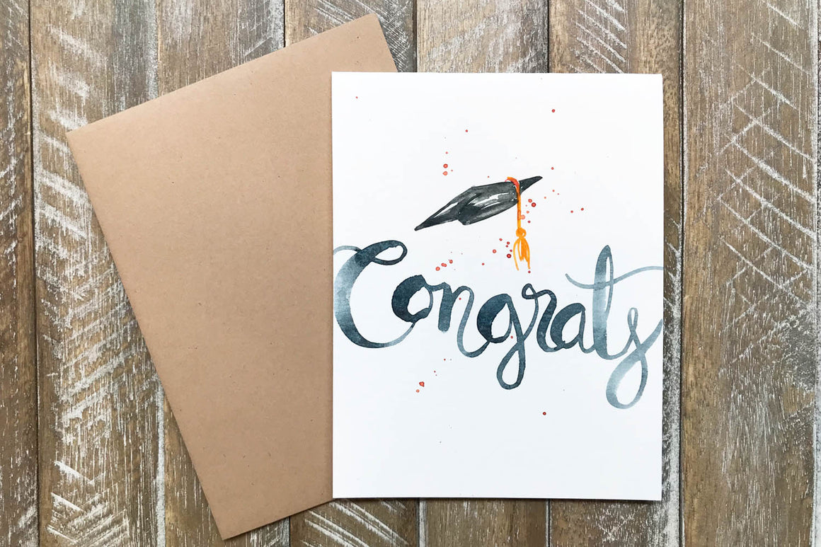 Hand Painted Greeting Cards for Graduation in Greeting Cards
