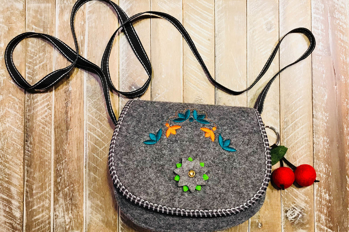 Felt Crossbody Shoulder Bag for women