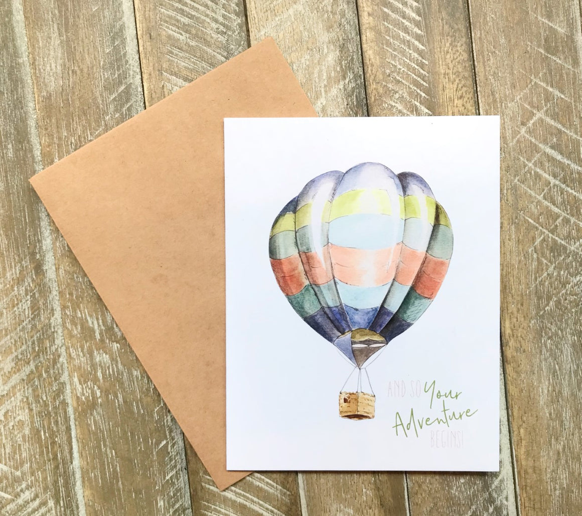 """And So Your Adventure Begins"" Thank you Card in Greeting Cards"