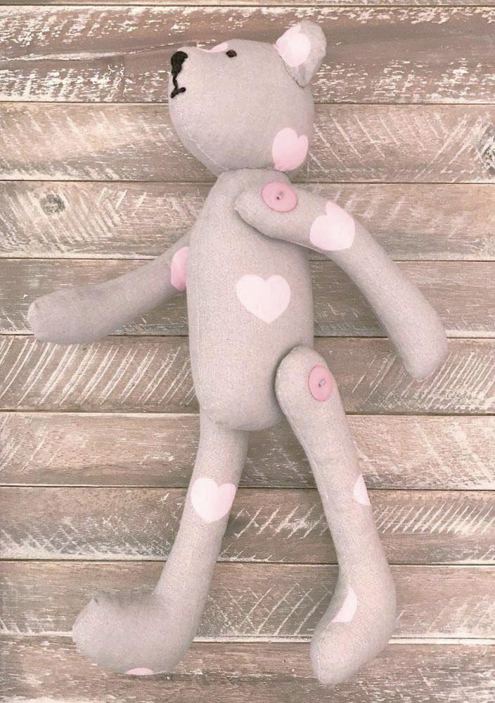Handmade Cotton Teddy Bear in decor