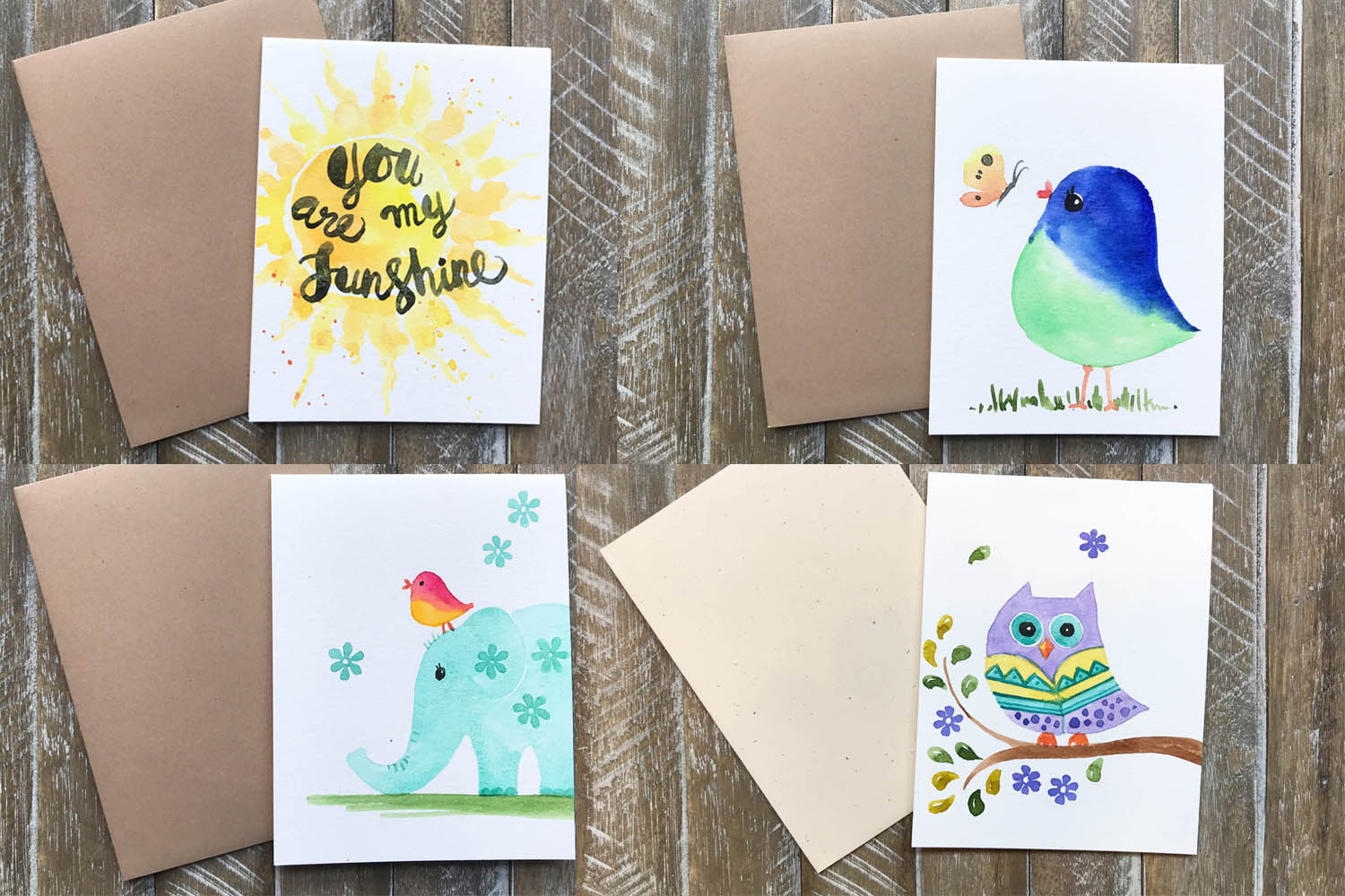 Hand Painted Greeting Cards For Kids