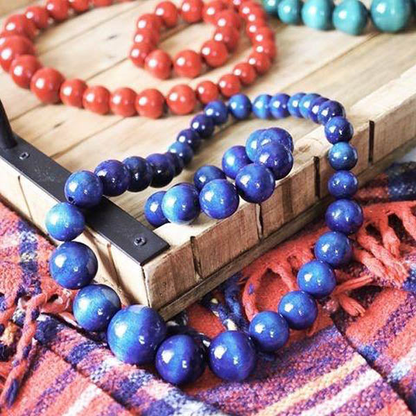 Wooden Jewelry Set (Necklace & Bracelet) for women
