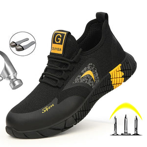 Breathable Men's Safety Shoes Boots With Steel Toe Cap