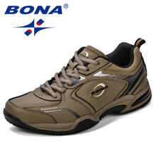 Load image into Gallery viewer, Leather Men Jogging Shoes