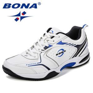 Leather Men Jogging Shoes