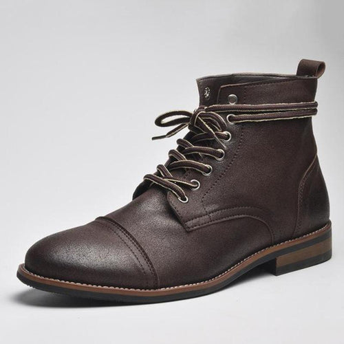 Lace-Up British Ankle Boot