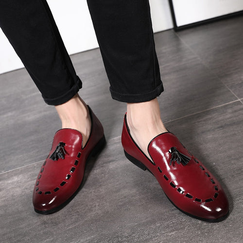 2019 Tassel Designer Handmade Leather Shoes