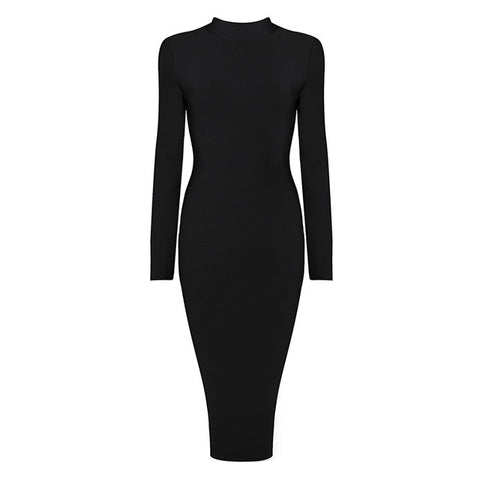 Knee Length Long Sleeve Dress