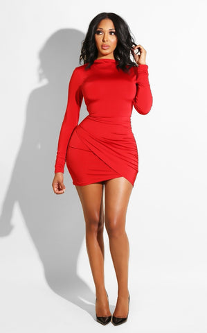 Unique irregular mini dress
