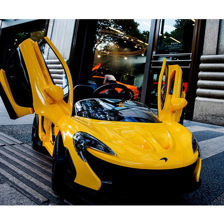 McLaren P1 12v Power Wheel Ride On Super Car + Parental Remote + Vertical  Doors