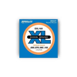 D'Addario EXL160 50-105 Nickel Wound Bass Guitar Strings, Long Scale