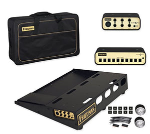 "Friedman Tour Pro 1520 Platinum Pack 15"" x 20"" Pedal Board with Riser, Professional Carrying Bag, Power Grid 10 & Buffer Bay 6"