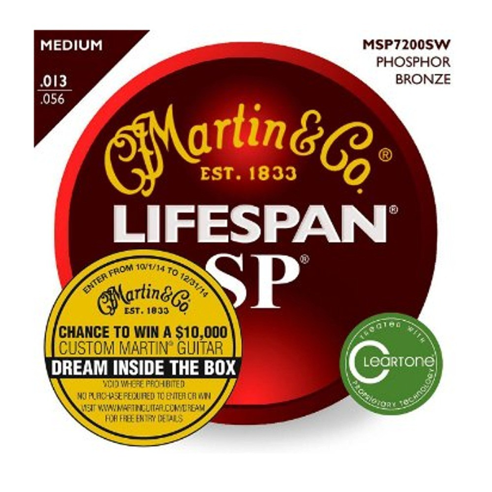 Martin LIfespan SP Medium Phosphor Bronze .013-.056 MSP7200SW