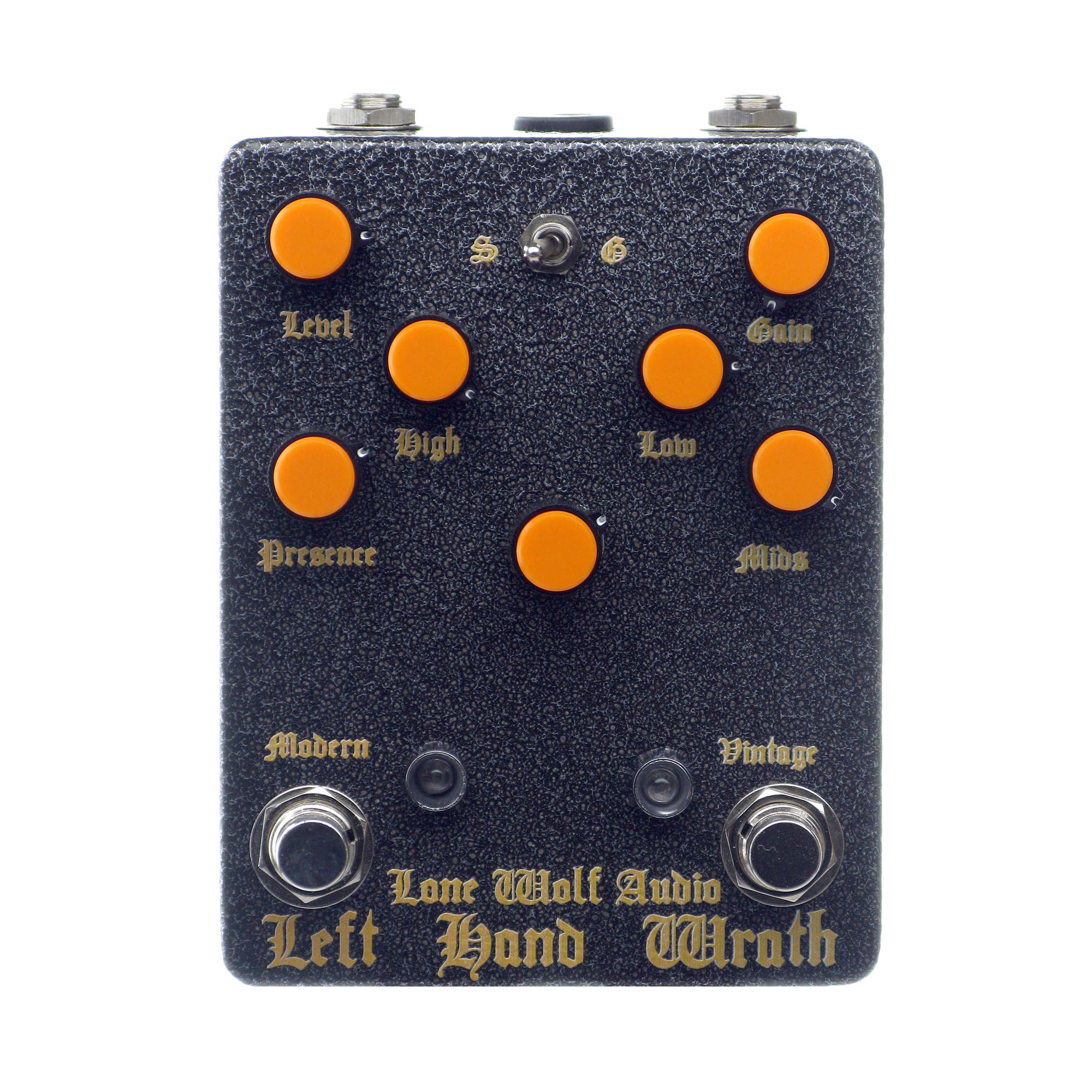 Lone Wolf Audio Left Hand Wrath Distortion, Hammered Gray