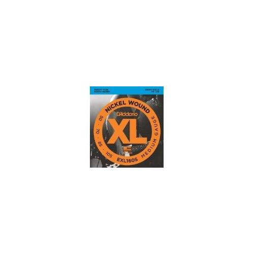 D'Addario EXL160S 50-105 Nickel Wound Bass Guitar Strings, Short Scale