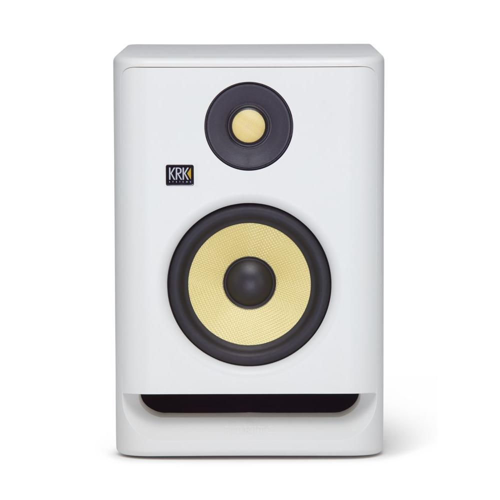 "KRK RP5G4WN ROKIT 5 Professional Bi-Amp 5"" Powered Studio Monitor, White"
