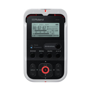 Roland R-07-WH High-Resolution Audio Recorder, White